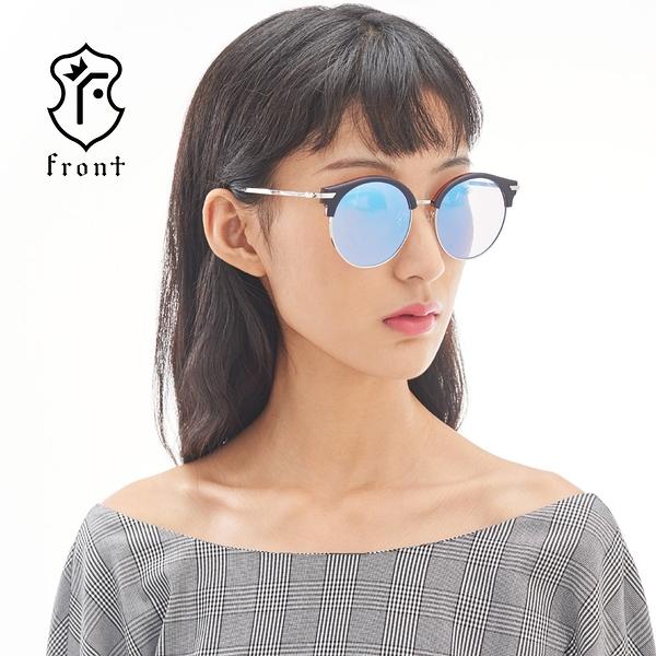【Front 太陽眼鏡】Pick Me-三色可挑選(#復古造型眉框太陽眼鏡/墨鏡)