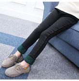 女童打底褲冬裝加厚新款韓版牛仔褲子加絨LJ1663『miss洛羽』