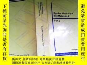 二手書博民逛書店Applied罕見Mechanics and Materials I Part2Y253683 . .