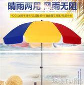 太陽傘 戶外遮陽傘太陽傘大號廣告傘擺攤傘印刷折疊雨傘防雨防曬圓形加厚 全館免郵 igo