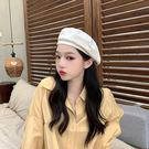 貝雷帽 女日系夏季薄款透氣復古文藝畫家帽百搭氣質純色八角帽秋冬 6色