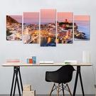 意大利漁村 壁貼 5入 3D立體壁貼 貼紙 假窗壁紙 沂軒精品 E0063 台灣現貨