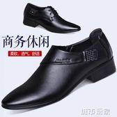 皮鞋 冬季皮鞋男士英倫尖頭商務正裝鞋子加棉新款休閒韓版潮發型師男鞋 城市玩家