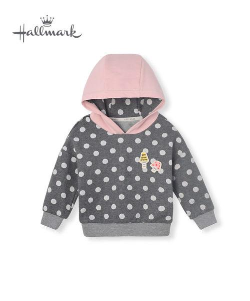 Hallmark Babies 秋冬女童點點長袖連帽上衣 HH3-Y02-11-KG-DG