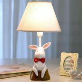 萬聖節大促銷 小白兔子臺燈臥室床頭燈可調光LED溫馨創意兒童可愛公主女孩禮物
