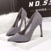 時尚尖頭細跟高跟鞋 性感職業OL工作鞋【多多鞋包店】z7010