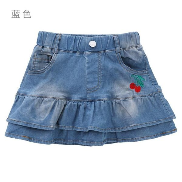 童裝裙子寶寶兒童夏季半截牛仔新洋氣短裙裙小孩女上新裙褲 全館免運