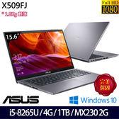 【ASUS】X509FJ-0111G8265U 15.6吋i5-8265U四核MX230獨顯效能輕薄筆電(星空灰)
