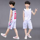 男童夏裝套裝2018新款無袖夏季運動背心兩件套男孩 BF1047【旅行者】