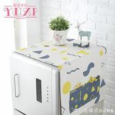 棉麻冰箱蓋布罩巾滾筒洗衣機蓋巾單開門對開門冰箱多用防塵罩漾美眉韓衣