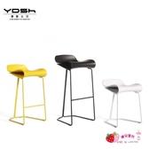 北歐創意吧凳現代簡約吧台椅家用鐵藝高腳凳酒吧椅咖啡廳前台吧椅 【快速出貨】