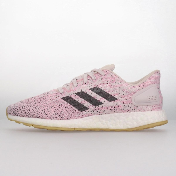 【US6-NG出清】adidas 慢跑鞋 PureBOOST DPR W 粉紅 白 女鞋 左腳黃 運動鞋【ACS】