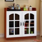 茶水櫃 歐式茶水櫃辦公室茶水台家用水桶飲水機櫃餐邊櫃廚房碗櫃簡約現代T 4色 快速出貨