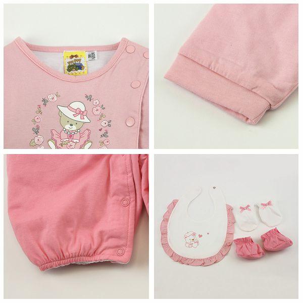 【愛的世界】鋪棉兩用嬰衣禮盒/3~6個月-台灣製-  ---禮盒推薦