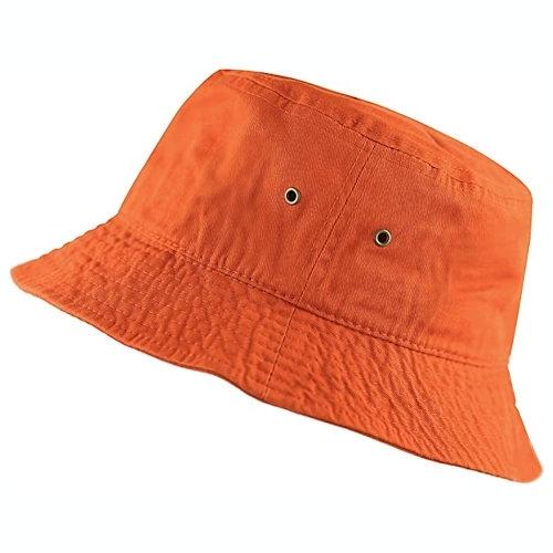 男女防曬遮陽漁夫帽(橙色)