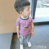 男童T恤 小童純棉短袖t恤男寶寶兒童裝體恤新款男童夏裝上衣1-2-3歲潮  提拉米蘇