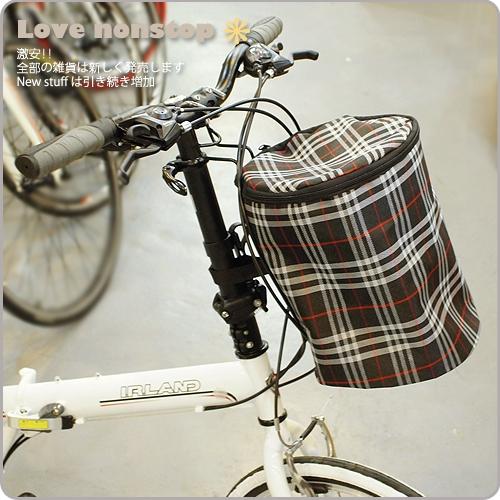 【樂樂購˙鐵馬星空】自行車布製置物籃 有蓋前籃 腳踏車掛籃 淑女車菜籃 寵物籃*(P23-807)