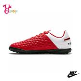 NIKE足球鞋LEGEND 8 男童足球鞋 碎釘足球鞋 男童女童 皮革 大童 P7245#紅色◆OSOME奧森鞋業