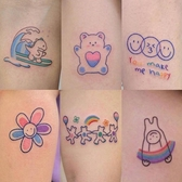 紋身貼貼了會變可愛的小清新卡通紋身貼防水 女持久仿真韓國暗黑風日系 玩趣3C