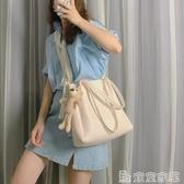 手提包 包包女斜背包百搭大容量側背包2020新款潮韓版簡約手提女包托特包 嬡孕哺