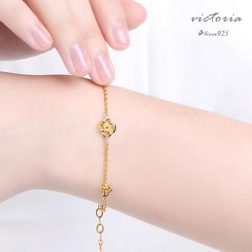 3D印金 時尚優雅唯美氣質黃金手鍊 -維多利亞171206