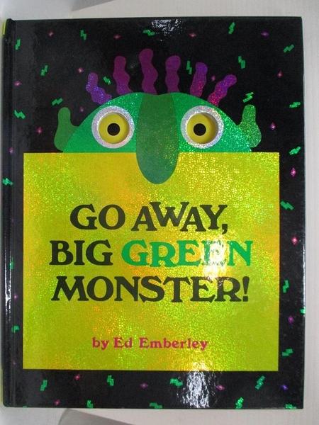 【書寶二手書T1/少年童書_EDH】Go away, big green monster!_Emberley, Ed