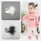 [全館5折-現貨] 小天鵝髮夾邊夾 兒童髮飾 女童配飾 嬰幼兒飾品 母嬰飾品 花童 配飾