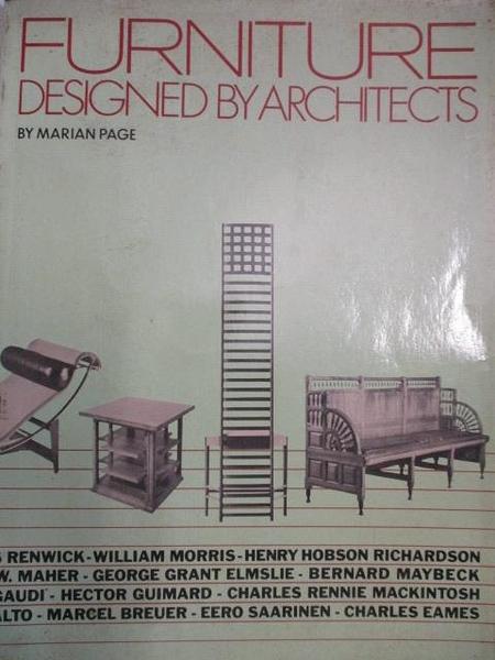 【書寶二手書T1/設計_J7R】Furniture Designed by Architects