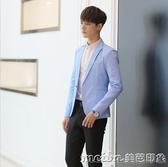 青少年冬季韓版西裝男帥氣修身型潮流男裝西服套裝外套學生一套冬 美芭