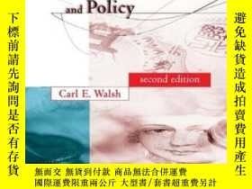 二手書博民逛書店Monetary罕見Theory And Policy, 2nd EditionY256260 Carl E.
