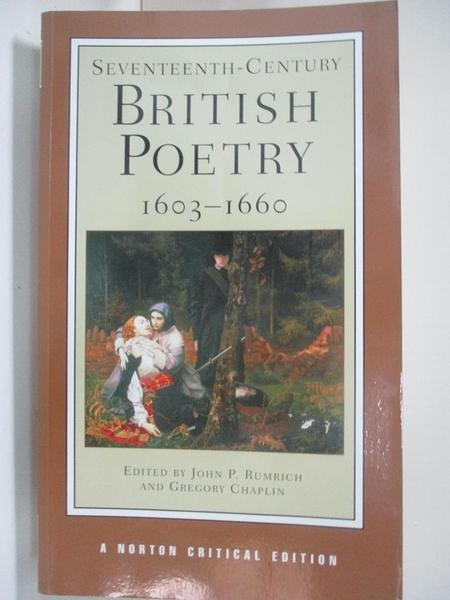 【書寶二手書T1/原文小說_DTJ】Seventeenth-Century British Poetry, 1603-1660..