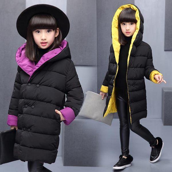 一件79折免運 女童棉衣新款冬裝女孩洋氣棉襖中大兒童羽絨棉服冬季加厚外套
