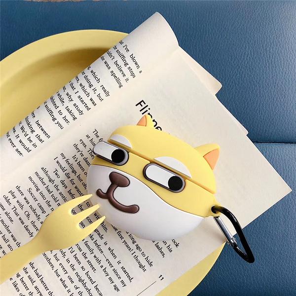 Airpods Pro 專用 1/2代 台灣發貨 [ 這隻柴犬有點賤 ] 藍芽耳機保護套 蘋果無線耳機保護