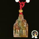 天上聖母媽祖 {印度瑪瑙}項鍊F 【十方佛教文物】