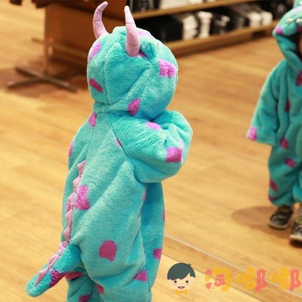 萬聖節兒童服裝連體衣cos服寶寶動物造型衣服恐龍睡衣【淘嘟嘟】
