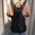真皮後背包-簡約大容量柔軟牛皮女雙肩包74af12[巴黎精品]