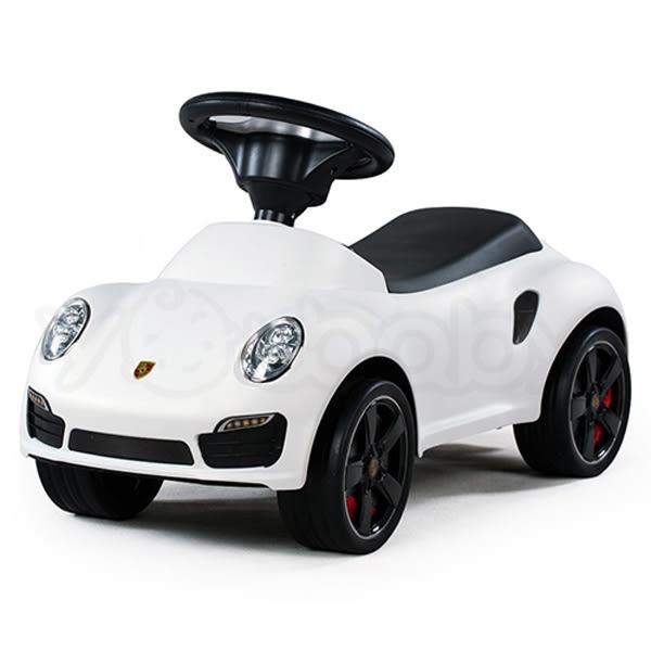 Porsche 保時捷 911 turbo S滑步車 助步車 學步車 玩具車-白