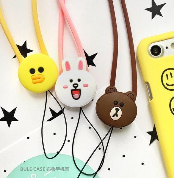 【SZ61】卡通矽膠可妮兔棕色熊莎莉掛繩 iPhone HTC samsung SONY ASUS 繩子 吊繩 掛脖子 手機掛繩