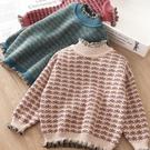 女童毛衣套頭加絨加厚2020秋冬裝新款洋氣兒童裝打底針織衫 蘿莉小腳丫