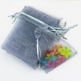 束口袋 灰色抽繩束口袋紗袋首飾袋飾品包裝袋子小號迷你禮品袋小袋子 夏洛特