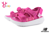 New Balance 750 寶寶涼鞋 小童 椰樹花紋 透氣清涼 運動涼鞋 O8537#粉紅◆OSOME奧森鞋業