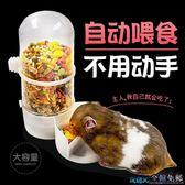 寵物自動餵食器 倉鼠喂食器自動喂食器小倉鼠荷蘭豬用品金絲熊豚鼠兔子松鼠兔食盆 JD 玩趣3C