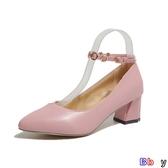 Bbay 單鞋 中跟 粗跟 小皮鞋 高跟鞋