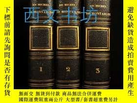 二手書博民逛書店【罕見】1844年 Essays of Michel de Mo