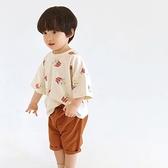 純棉 趣味滿版爆米花圓領短T 男童 春夏 短袖 上衣 T恤