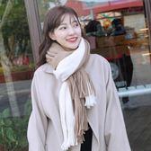 圍巾女秋冬季韓版百搭長款加厚保暖學生針織毛線披肩情侶冬天圍脖    韓小姐