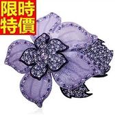 髮夾 髮飾-時髦自信純手工製作水鑽花朵優雅2色65w34[巴黎精品]