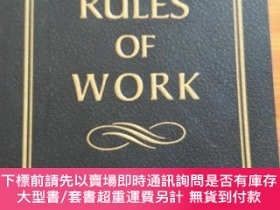 二手書博民逛書店THE罕見RULES OF WORK(英文原版)Y209851 Richard Templar 著 PRENT