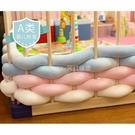 ins超粗毛線長條打結床圍 嬰兒床寶寶床纏繞防撞保護木質圍欄軟包 幸福第一站