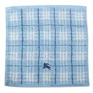BURBERRY 格紋100%棉質方巾(水藍色)081007